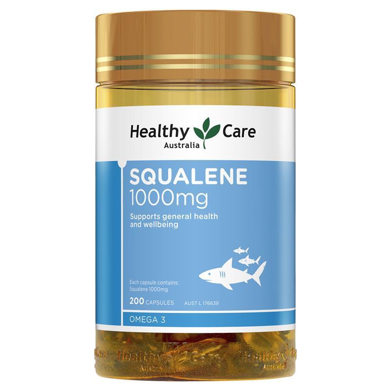 商品澳洲进口Healthy Care深海鮫鯊角鲨烯Squalene200粒图片