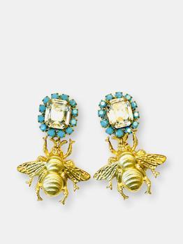 商品The Pink Reef Turquoise Crystal Mini Queen Bee图片