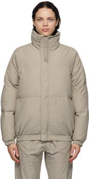 商品Grey Nylon Puffer Jacket图片