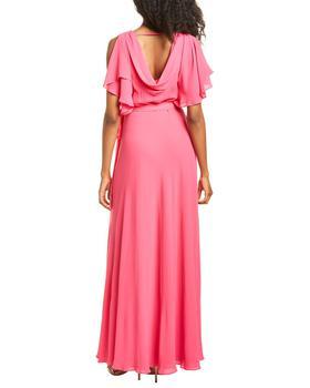 商品Halston Cold-Shoulder Drapey Back Gown图片