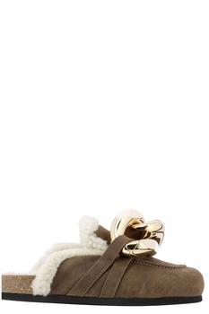 商品JW Anderson Chain Shearling Loafer Mules - IT36 / Brown图片