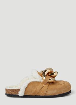 商品JW Anderson Chain Embellished Loafers - IT36 / Beige图片