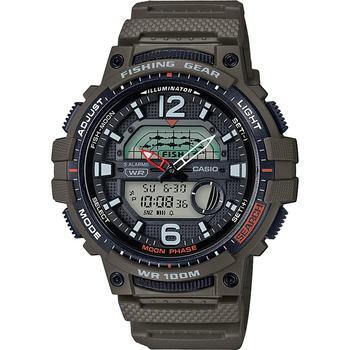 商品Men's Digital Fishing Gear Green Resin Strap Watch 48mm图片