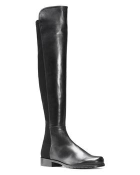 商品5050 过膝长靴——黑色麂皮、亮皮款图片
