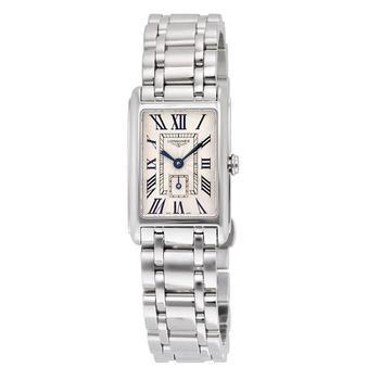 商品Longines Dolce Vita Silver Dial Stainless Steel Ladies Watch L52554716图片