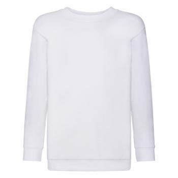 商品Fruit Of The Loom Childrens Big Boys Set in Sleeve Sweatshirt (Pack of 2) (White)图片
