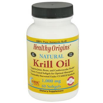 商品Healthy Origins 1000 Mg Natural Krill Oil Softgels - 60 Ea图片