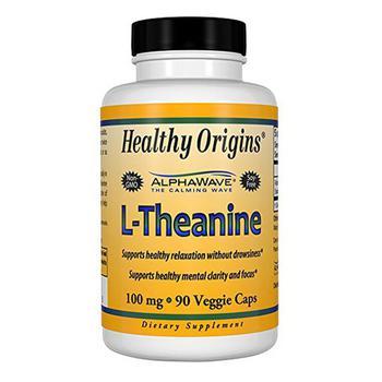 商品Healthy Origins L Theanine Supplement Vegetarian Capsule 100 mg, 90 Ea图片