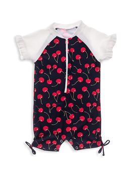 商品Baby Girl's Ma Cheri Short Sleeve Ruffle Sunsuit图片