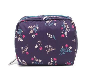 商品Le Sportsac Laelia Yucca Purple Bouquet Print Square Cosmetic Pouch图片