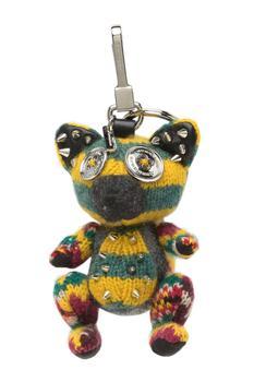 商品Burberry Green Multi Dave Fox Studded Key/Bag Charm图片