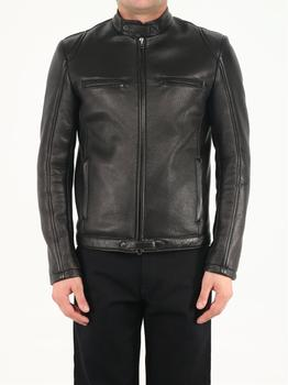 商品Black leather biker jacket图片