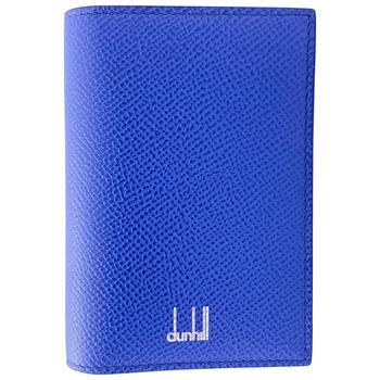 商品Dunhill Cadogan Cobalt Leather Business Card Case图片