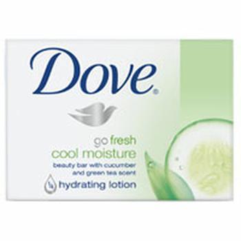 商品Dove Go Fresh Cool Moisture Beauty Bar Soap With Cucumber And Green Tea Scent - 3.75 Oz Ea, 4 Pack图片