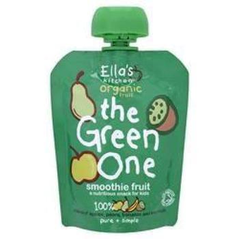 商品艾拉的厨房彩虹果泥绿色有机奇异果香梨香蕉苹果泥  90g图片