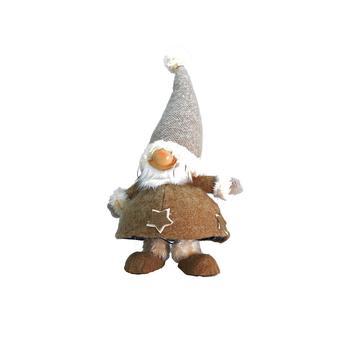 商品Plush and Portly Champagne Bobble Action Gnome Christmas Table top Figure图片