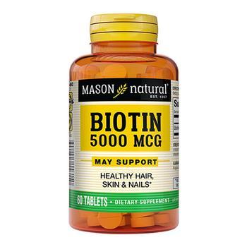 商品Super Potency Biotin 5000Mcg Tablets By Mason Vitamins - 60 Ea图片
