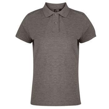 商品Asquith & Fox Womens/Ladies Plain Short Sleeve Polo Shirt (Charcoal)图片