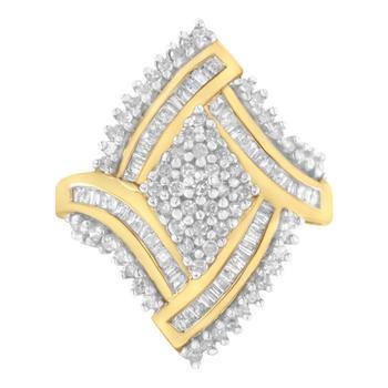 商品Haus of Brilliance 10kt Yellow Gold 1ct TDW Diamond Cocktail Ring (H-I,I1-I2)图片