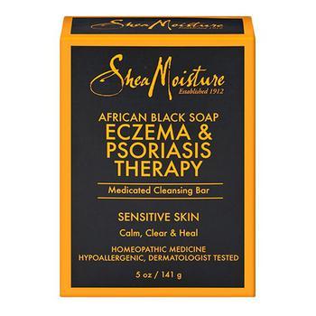 商品Shea Moisture Eczema And Psoriasis Therapy African Black Medicated Cleansing Bar Soap, 5 Oz图片