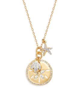 商品Goldtone & Swarovski Crystal Pendant Necklace图片