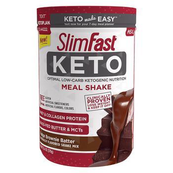 商品SlimFast Keto 低碳水奶昔 布朗尼味图片