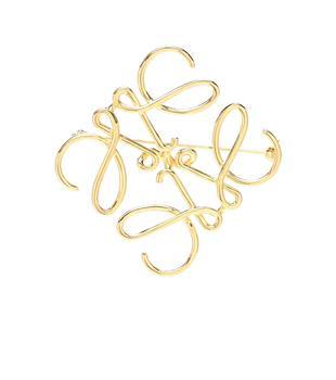 商品镀金logo胸针图片