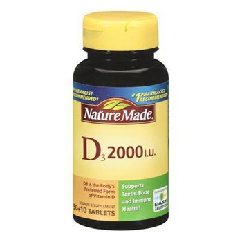 商品Nature Made Vitamin D3 2000 Iu Tablets - 100 Ea图片