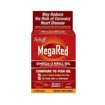 商品Schiff Megared Omega-3 Krill Oil Softgels, 30 Day Supply - 30 Ea图片