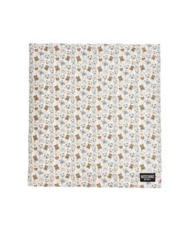 商品Moschino Kids Allover Teddy Print Blanket - Only One Size / Multi图片