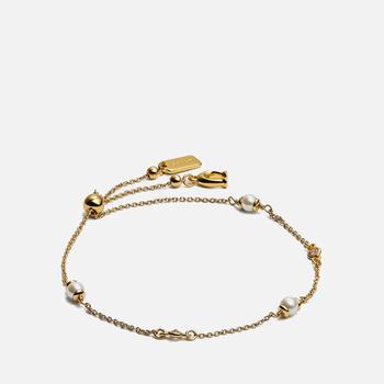 商品Coach Women's Classic Pearl Bracelet - Gold图片