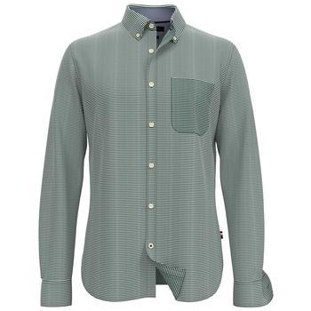 商品男士修身条纹衬衫长袖衬衣图片