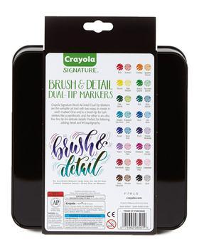 商品Crayola 16 ct. Brush & Detail Dual-Tip Markers图片