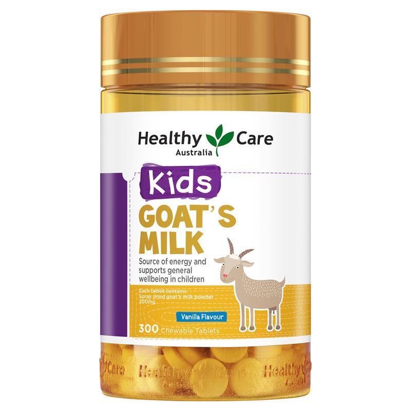 商品澳洲Healthy Care山羊奶片HC咀嚼片宝宝零食儿童补钙香草味300粒图片