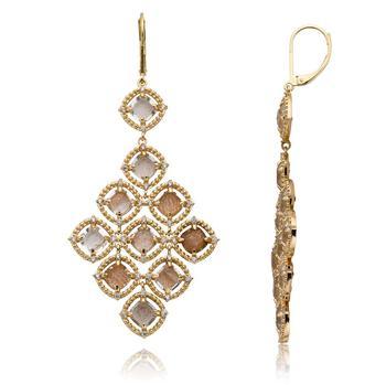 商品Riccova 14k Gold Plated Sandstone Earrings ER5771B-GB-GP图片
