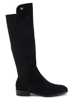 商品女式 Keelan系列 SW21 麂皮 低方跟及膝靴 长筒靴 图片