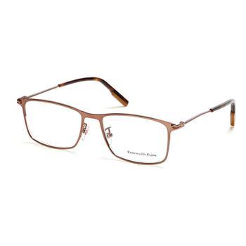 商品Ermenegildo Zegna Mens Brown Square Eyeglass Frames EZ5154-D03655图片