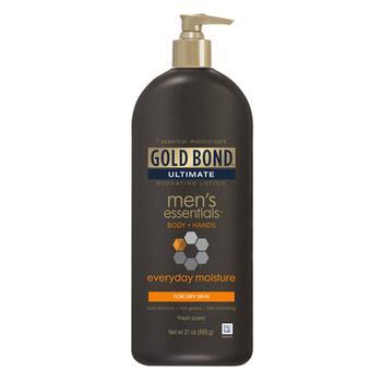 商品Gold Bond Ultimate Mens Everyday Body, Hand Hydrating Lotion, 21 oz图片