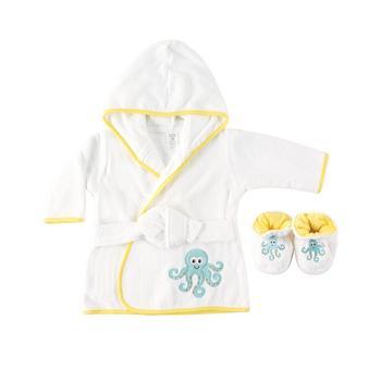商品Bath Robe with Slippers, Octopus, 0-9 Months图片