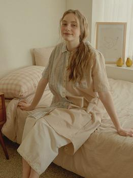 商品Marne Short Sleeve PJ Dress (w/Nipple Cover)图片