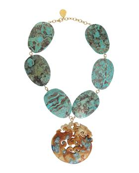 商品Ocean Jasper Carved Jade Necklace图片