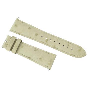 商品Hadley Roma 24 MM Ivory Ostrich Leather Strap图片