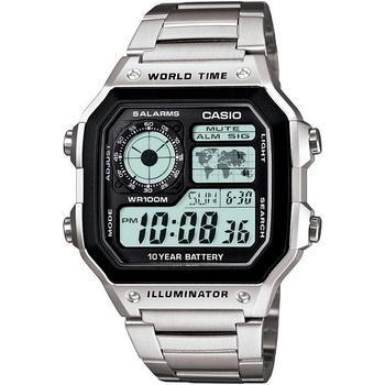 商品世界地图 男女通用 数字不锈钢手表39.5mm 图片