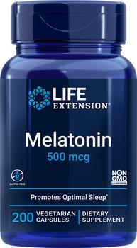 商品Life Extension Melatonin - 500 mcg (200 Vegetarian Capsules)图片