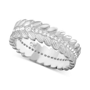商品Cubic Zirconia Leaf Ring in Silver-Plate图片
