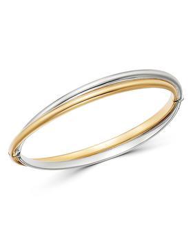 商品Crossover Bangle Bracelet in 14K Yellow & White Gold - 100% Exclusive图片