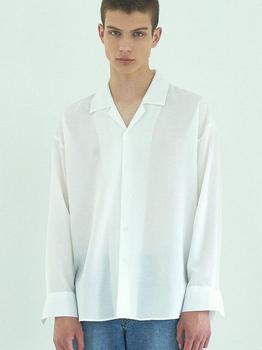 商品Summer Oversized Fit Pajama Shirt White图片