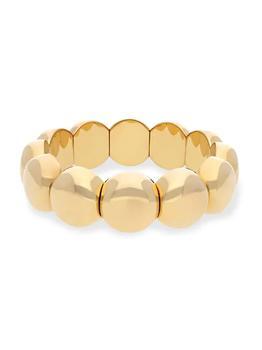 商品Aura Dama 18K Gold-Plated Ceramic Stretch Bracelet图片