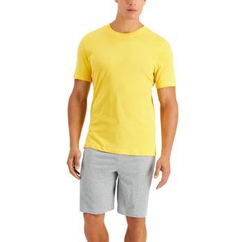 商品Men's 2-Pc. Solid Pajama T-Shirt & Shorts Set, Created for Macy's图片