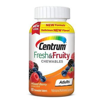 商品Centrum Fresh and Fruity Mixed Berry Flavor Multivitamin and Multimineral Supplement for Adults, 90 Ea图片
